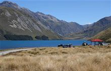 Lake Tennyson Campsite . Molesworth Station