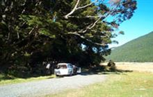 Walker Creek Campsite . Fiordland National Park and Milford Road/Milford Sound area