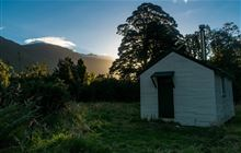 Horseshoe Flat Hut . Haast, Paringa and Moeraki rivers area