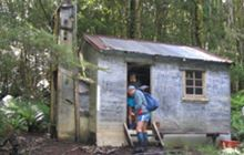Turnbull's (Big Dam) Hut . Longwood Forest Conservation Area