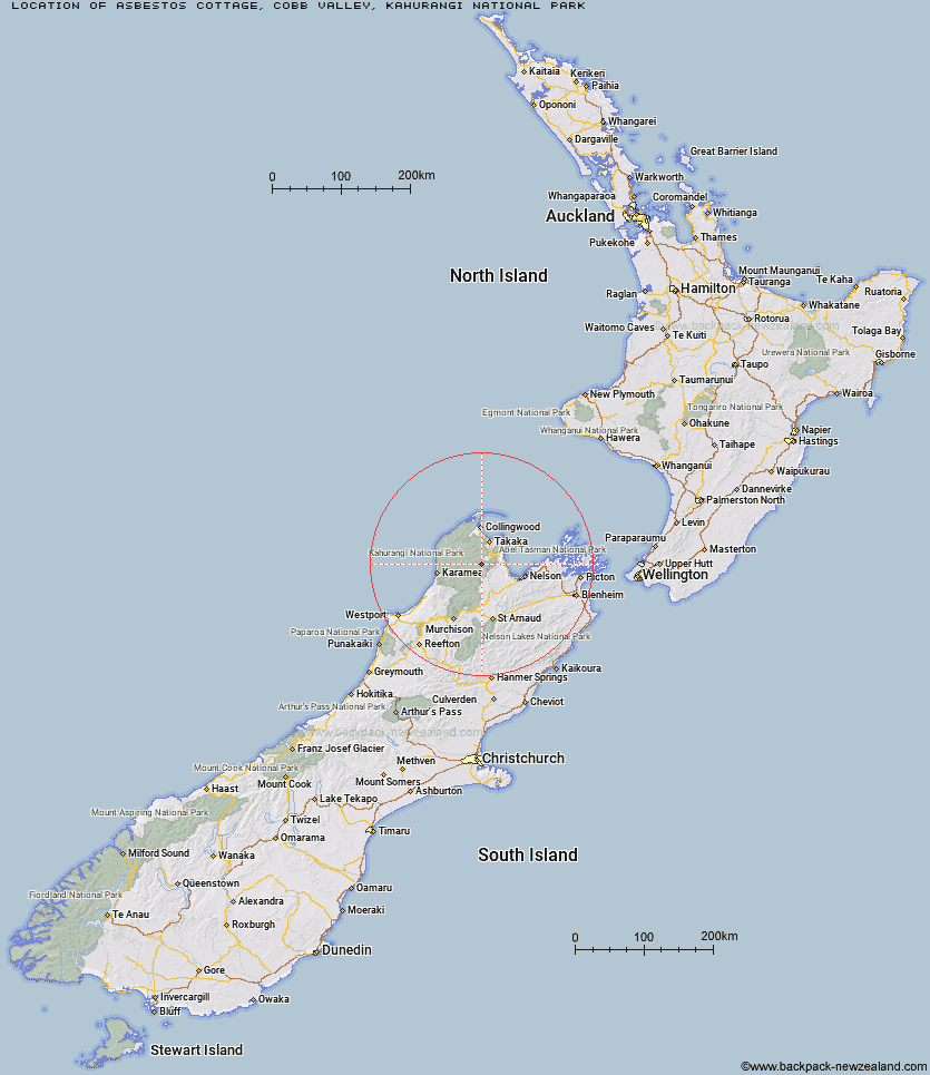 Asbestos Cottage Map New Zealand
